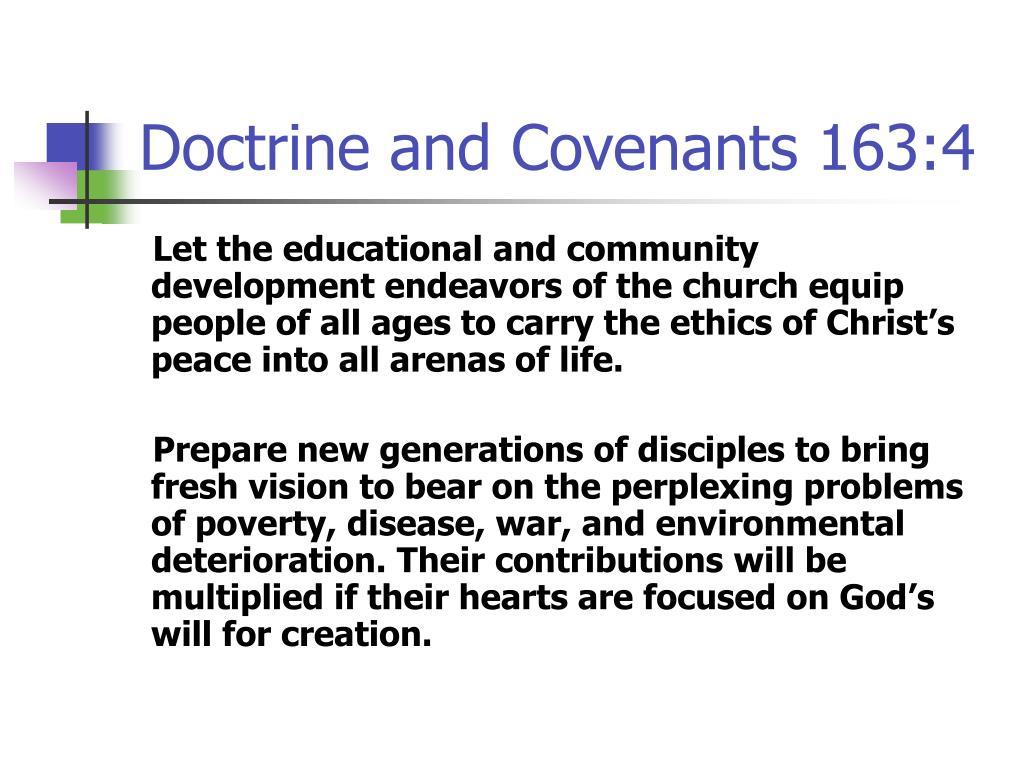 Doctrine and Covenants 163:4