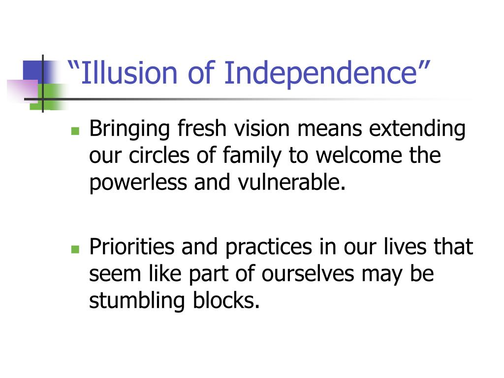 """Illusion of Independence"""