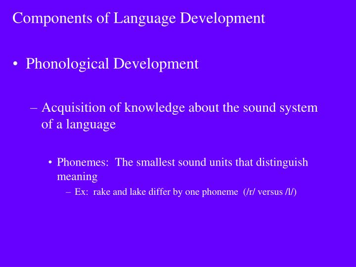 Components of Language Development