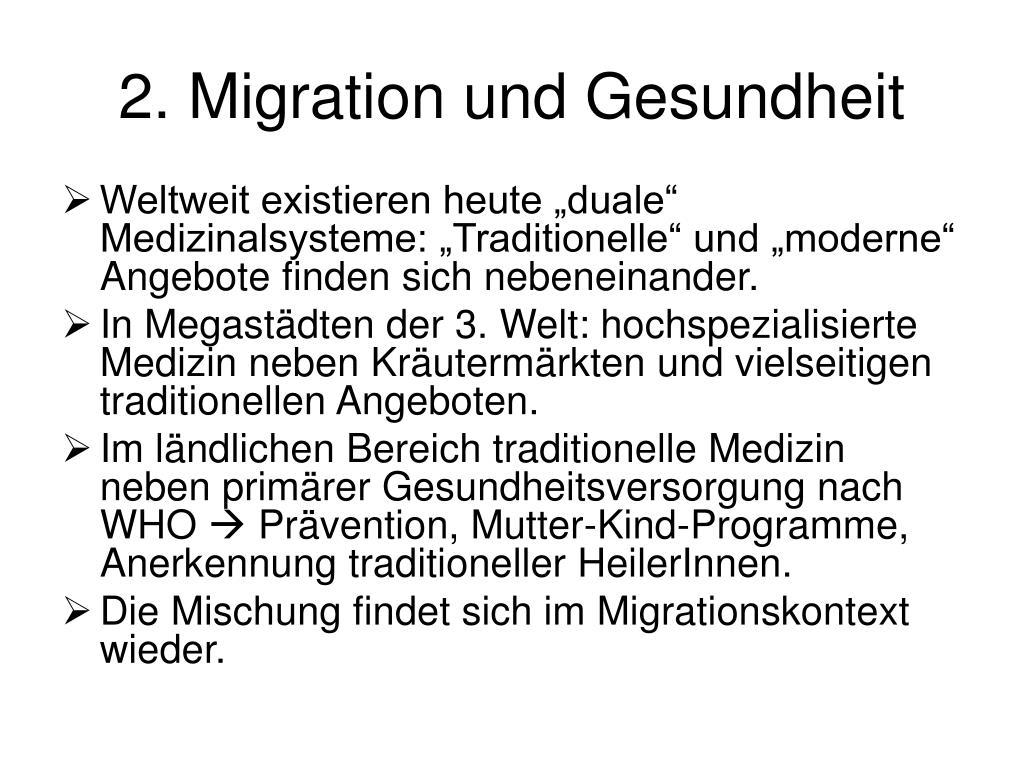 2. Migration und Gesundheit
