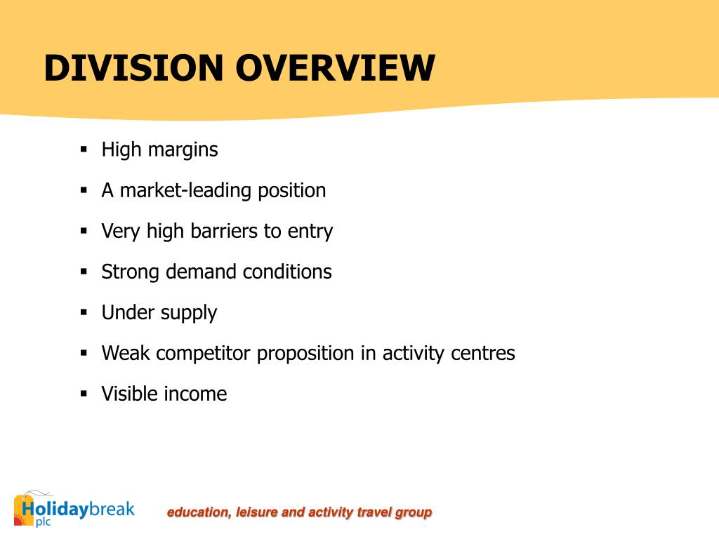 DIVISION OVERVIEW