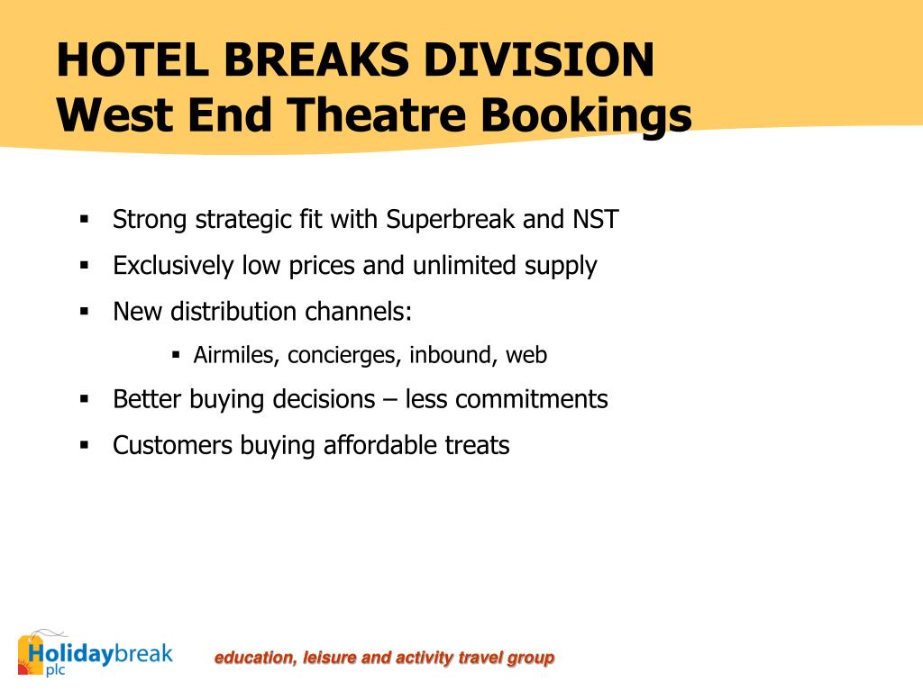 HOTEL BREAKS DIVISION