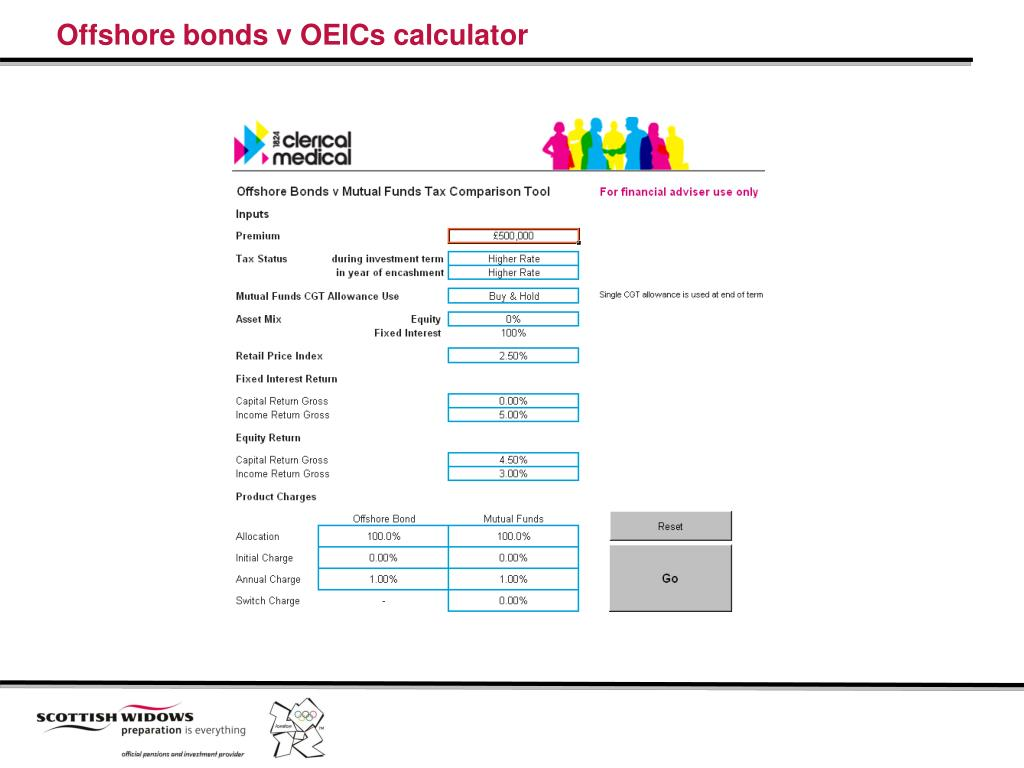 Offshore bonds v OEICs calculator