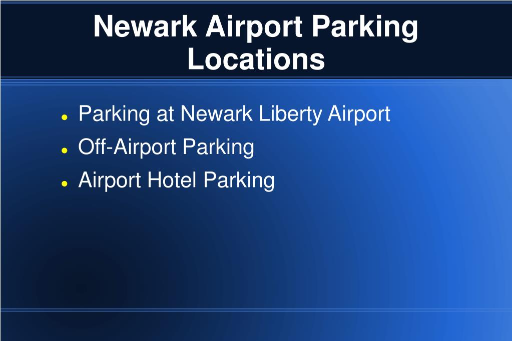 Newark Airport Parking Locations