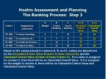 hoshin assessment and planning the ranking process step 3