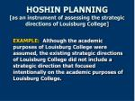hoshin planning as an instrument of assessing the strategic directions of louisburg college