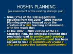 hoshin planning as assessment of the existing strategic plan