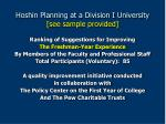 hoshin planning at a division i university see sample provided