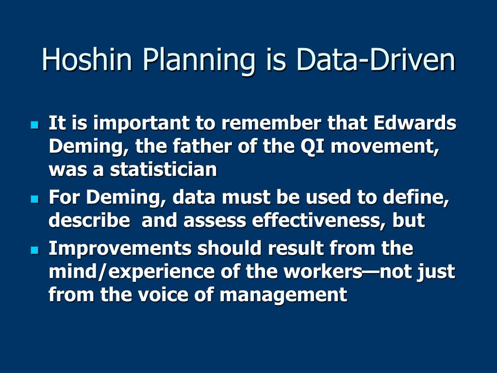 Hoshin Planning is Data-Driven