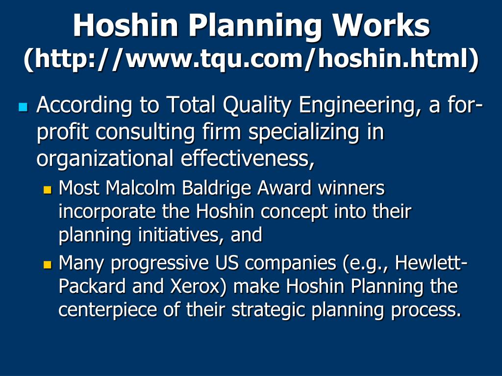 Hoshin Planning Works
