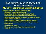 programmatic by products of hoshin planning mv 610 continuous civility initiatives
