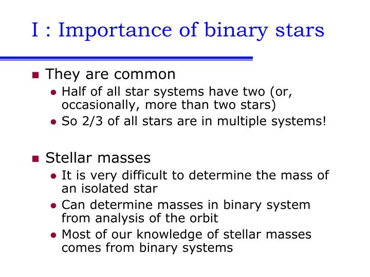 I importance of binary stars l.jpg