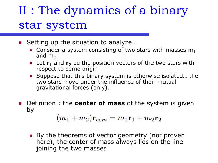 Ii the dynamics of a binary star system l.jpg