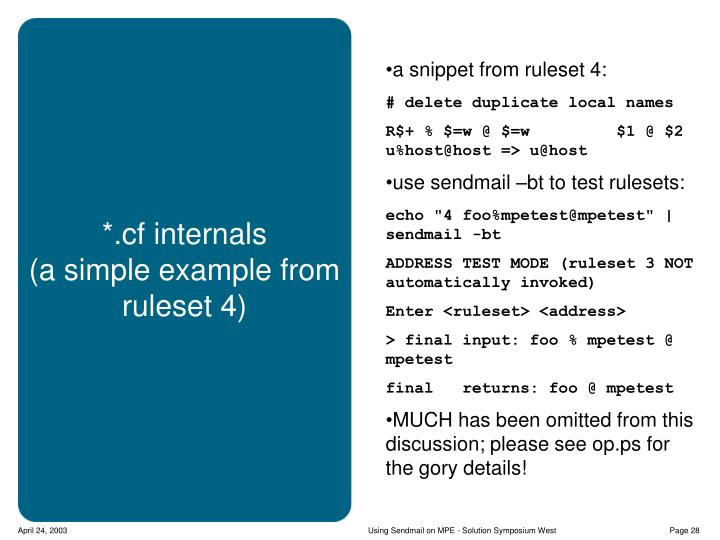 a snippet from ruleset 4: