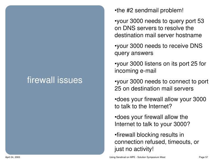 the #2 sendmail problem!