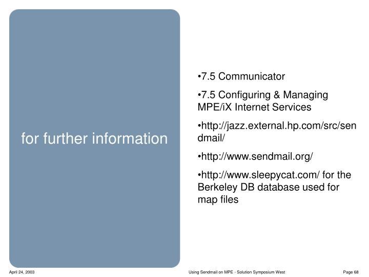7.5 Communicator
