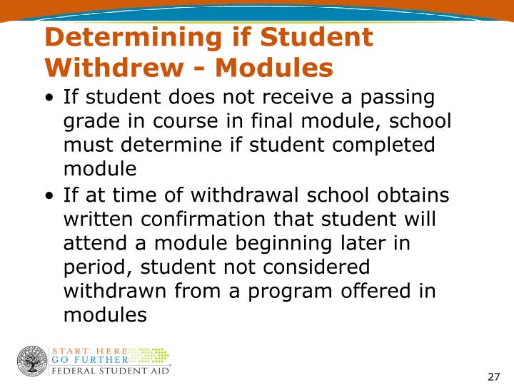 Determining if Student Withdrew - Modules