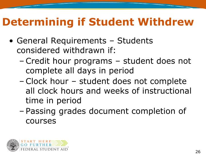 Determining if Student Withdrew