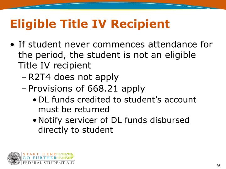 Eligible Title IV Recipient