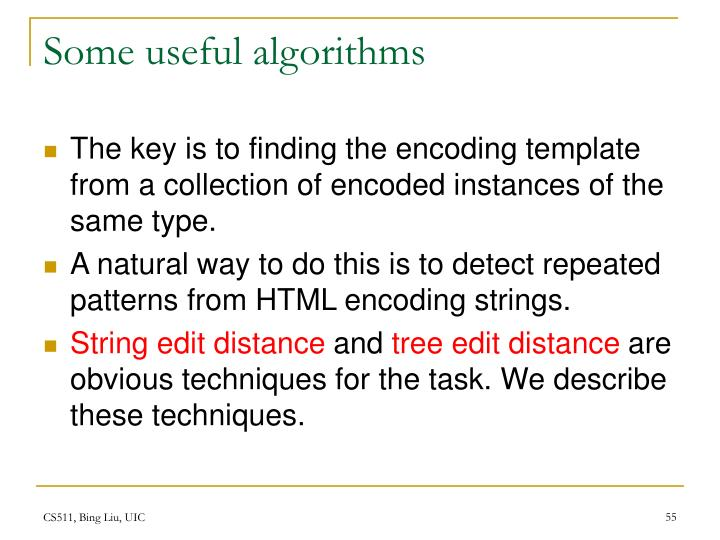 Some useful algorithms