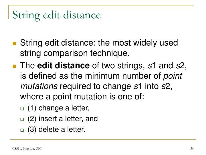 String edit distance