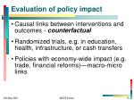 evaluation of policy impact
