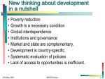 new thinking about development in a nutshell