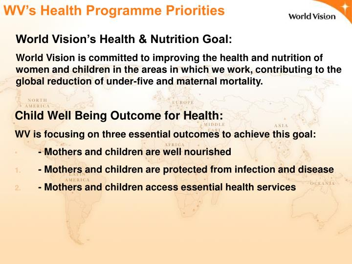WV's Health Programme Priorities