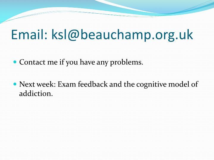 Email: ksl@beauchamp.org.uk