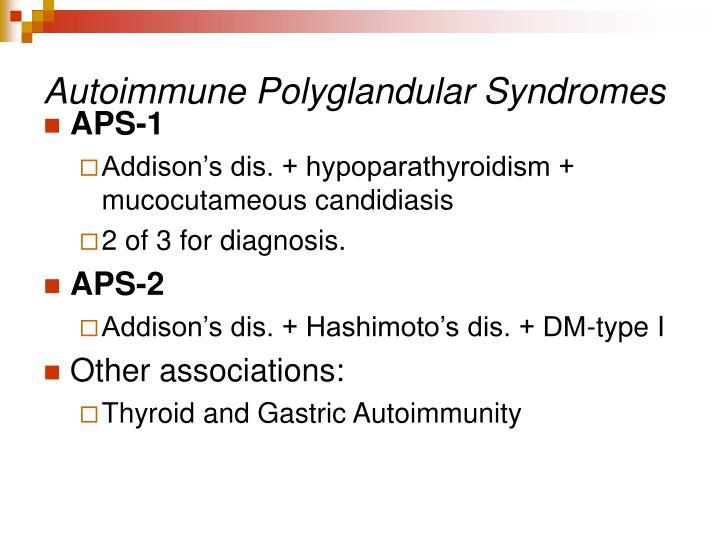 Autoimmune Polyglandular