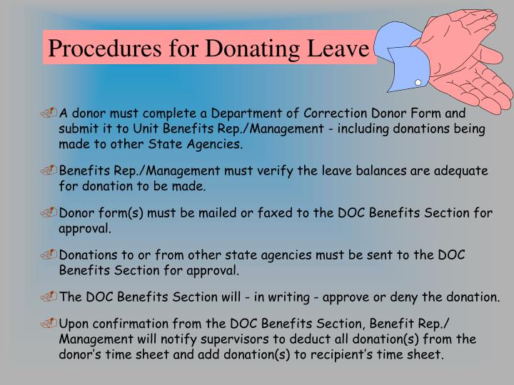 Procedures for Donating Leave