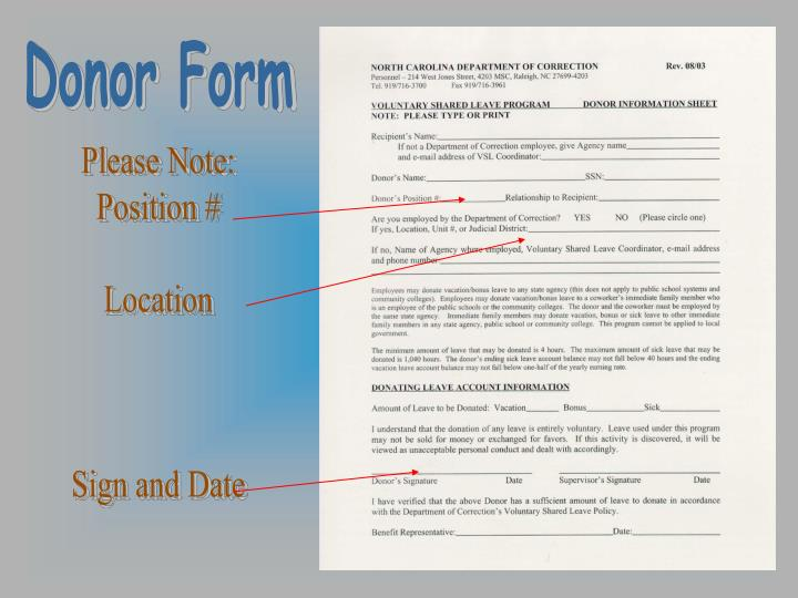 Donor Form