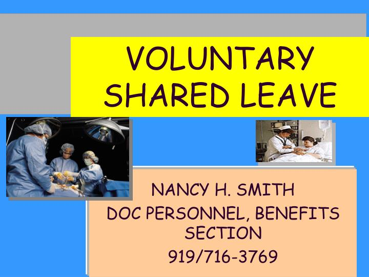 VOLUNTARY SHARED LEAVE