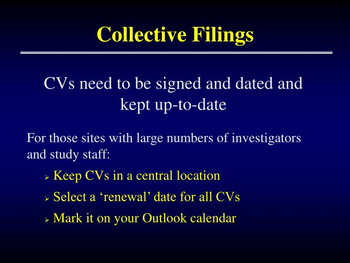 Collective Filings