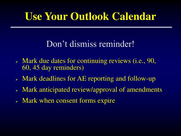 Use Your Outlook Calendar