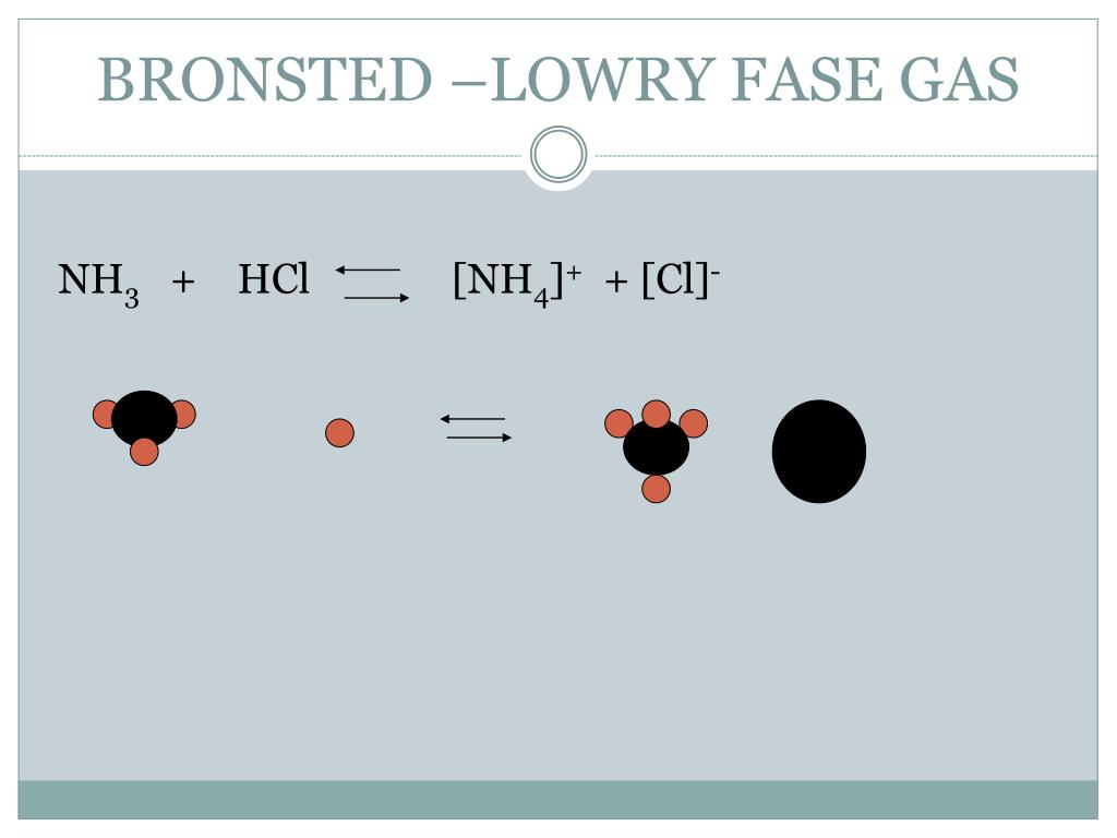 BRONSTED –LOWRY FASE GAS