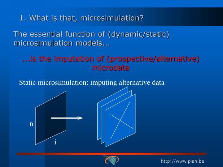 1. What is that, microsimulation?