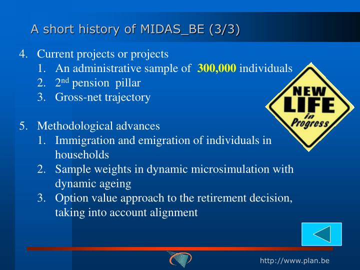 A short history of MIDAS_BE (3/3)