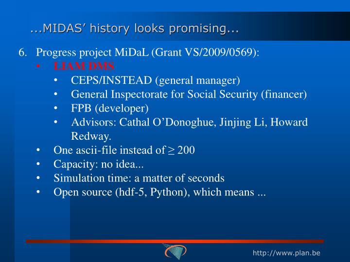 ...MIDAS' history looks promising...