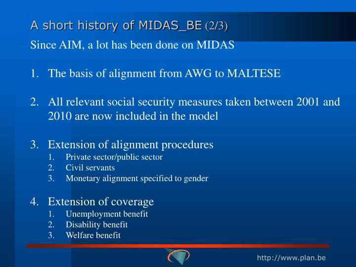 A short history of MIDAS_BE