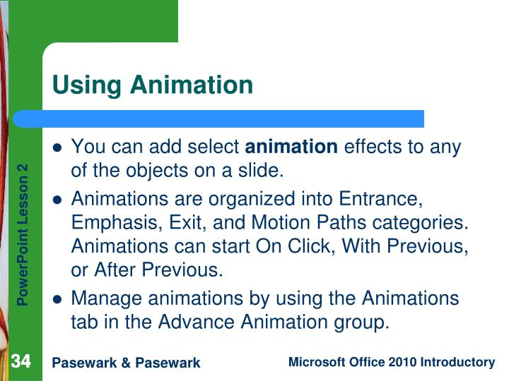Using Animation