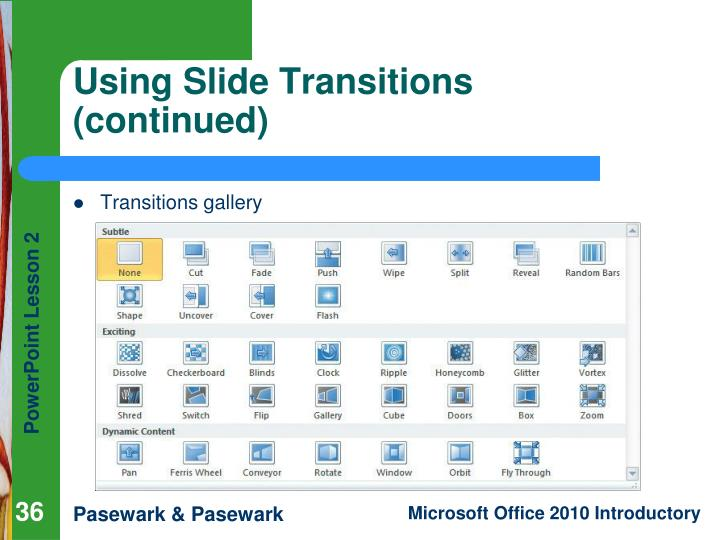 Using Slide