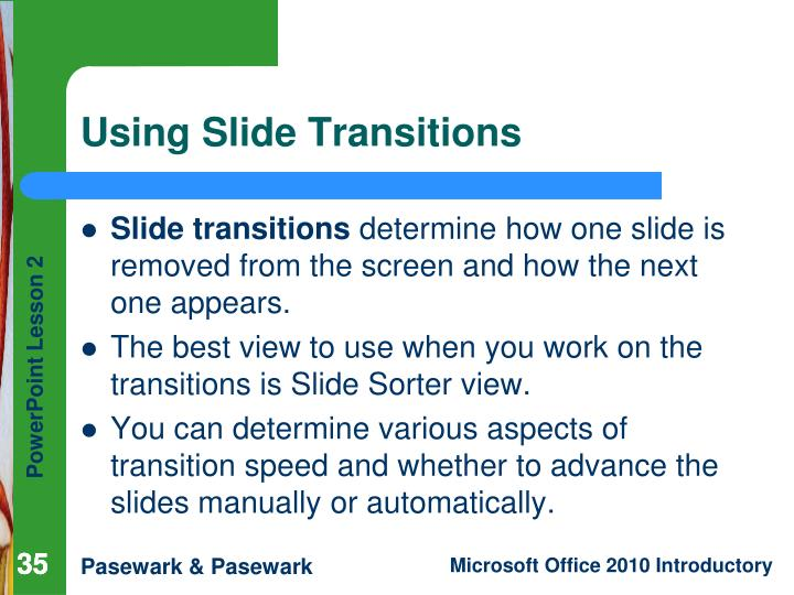 Using Slide Transitions