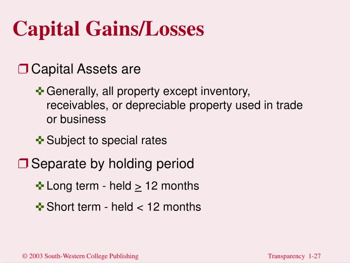 Capital Gains/Losses