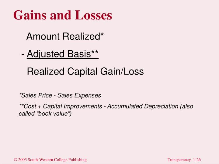 Gains and Losses