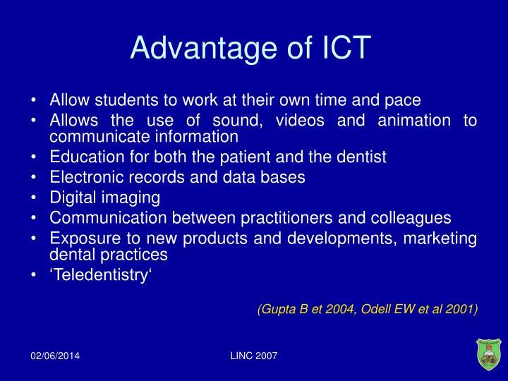 Advantage of ICT