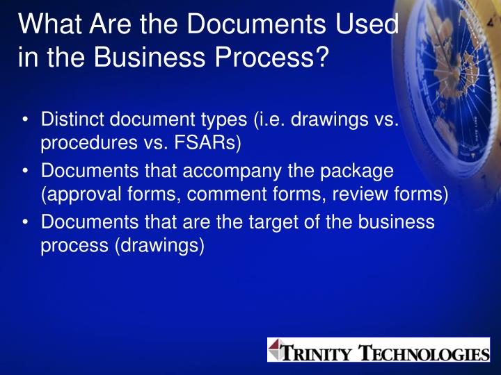 What Are the Documents Used in the Business Process?