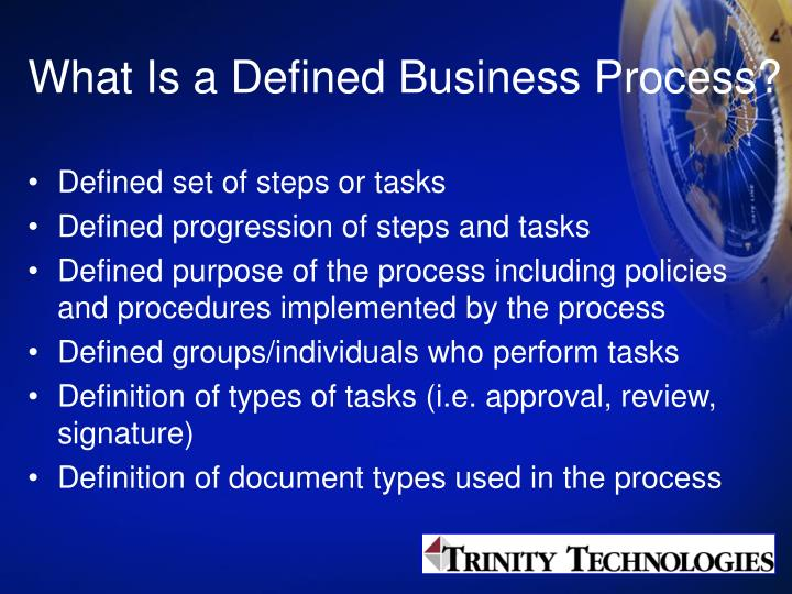 What Is a Defined Business Process?