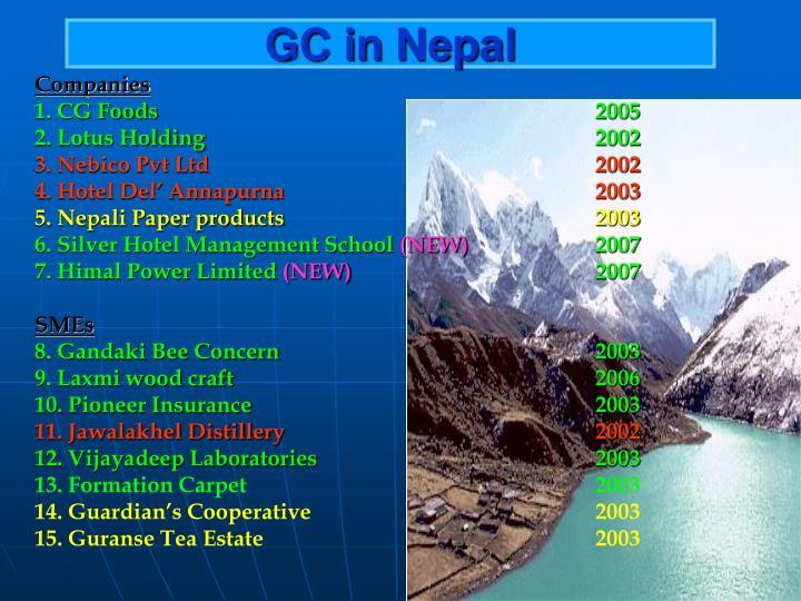 GC in Nepal