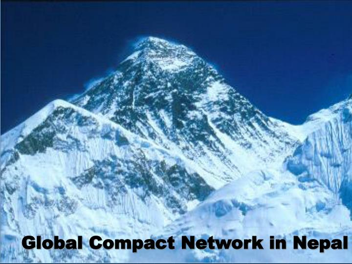 Global compact network in nepal